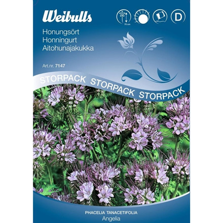 Honningurt - Phacelia tanacetifolia, Stor pose - Frø (W7147)