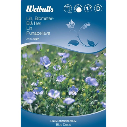 Hør, blå - Linum grandiflorum - Blue Dress - Frø (W6727)