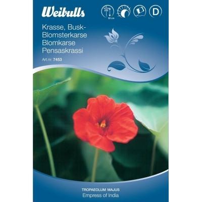 Blomsterkarse - Tropaeolum majus - Empress of India - Frø (W7453)