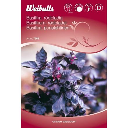 Basilikum rødbladet - Ocimum basilicum - Frø (W7669)