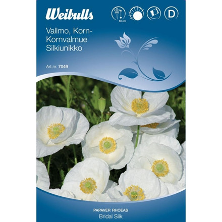 Kornvalmue - Papaver rhoeas - Bridal Silk - Frø (W7049)