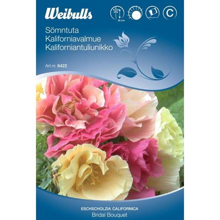 Kaliforniavalmue - Eschscholzia californica - Bridal Bouquet - Frø (W6422)