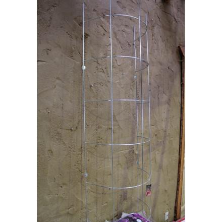 Trådespalie bøjet 150 x 50 cm zink (GA)