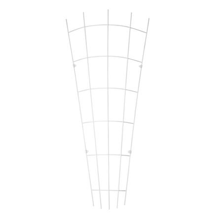 Trådespalie fjer bøjet 150 x 65 cm. zink (GA)