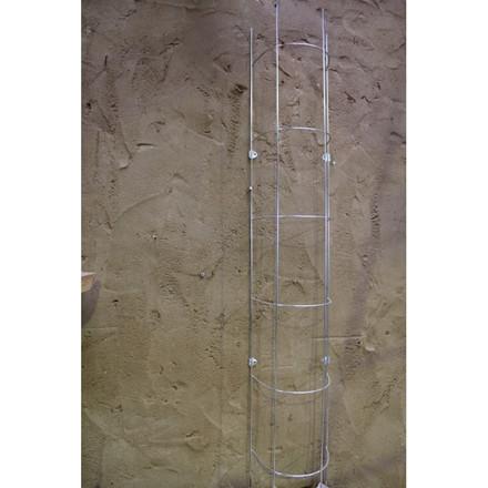 Trådespalie rør rund 150 x 23 cm. zink (GA)