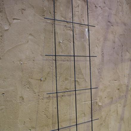Trådespalie 10 ruder 150 x 45 cm. Sort (GA)