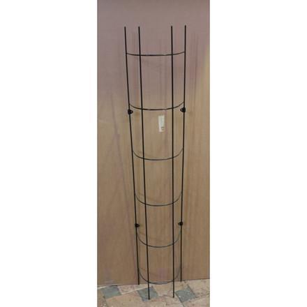 Trådespalie rør rund 150 x 23 cm. sort (GA)