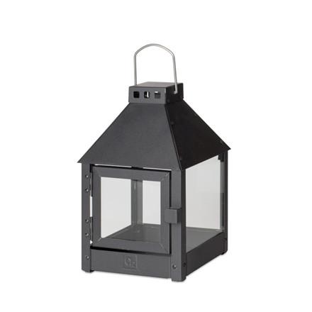 Lanterne MINI QUARDRO / Sort 17x17x27,5 cm