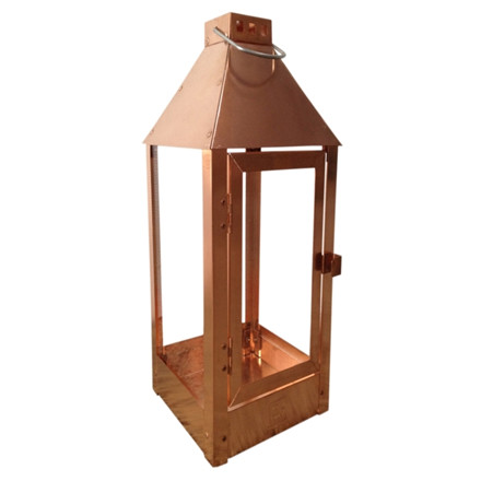 Lanterne MAXI / kobber 22,5 x 22,5 x 60 cm