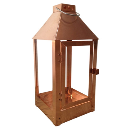 Lanterne MEGA / kobber 32 x 32 x 70 cm.