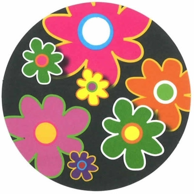 Rundt kort med blomster