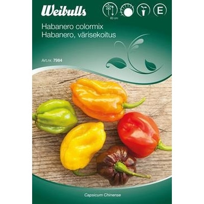 Peber, Chili - Capsicum 'Habanero colormix' - Frø (W7984)