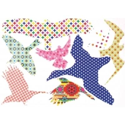 Trendy fuglesilhouetter 42 x 28 x 0,1 cm