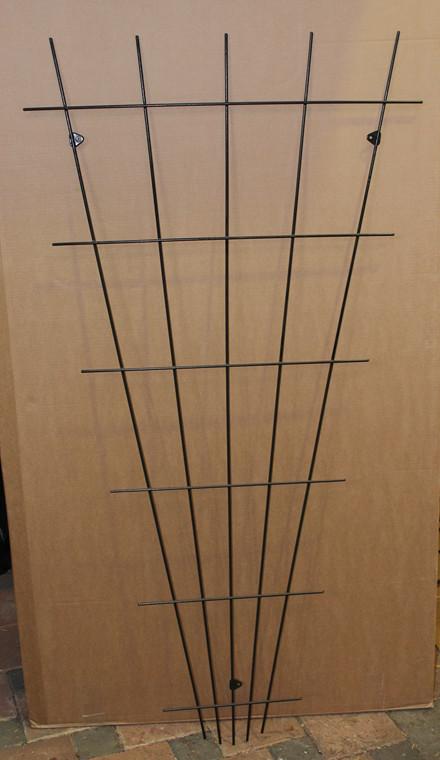 Trådespalie fjer lige 150 x 75 cm. sort (GA)