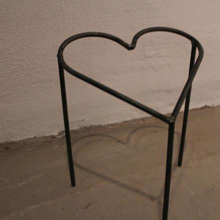 Hjerte på 3 ben 35x35 cm