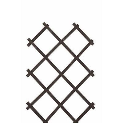 Træ-espalier 50x140 Sort (WB666090)