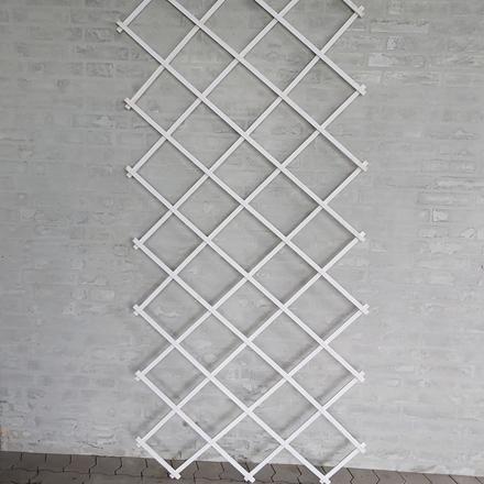 Træ-espalier 90x200 cm. Hvid (WB666087) Udgår