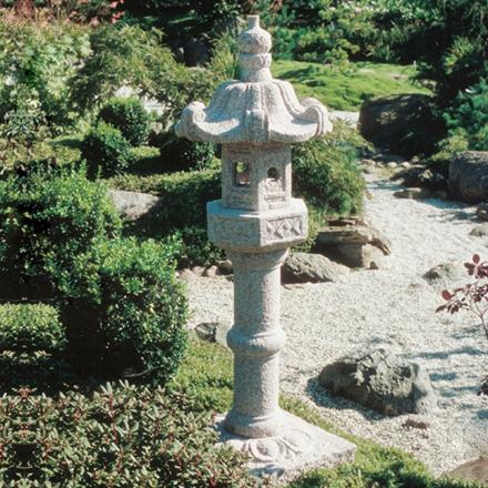 Kasuga lanterne højde 120 cm, lysegrå granit