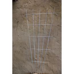 Trådespalie fjer lige 150 x 75 cm. zink (GA)