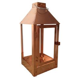 Lanterne  MEDI / kobber 19 x 19 x 42,5 cm