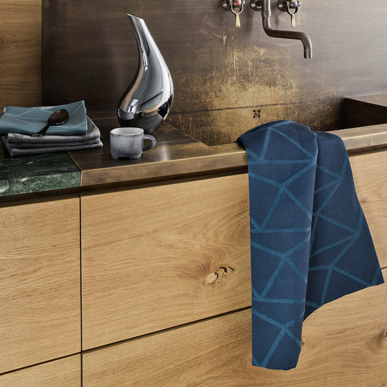 ARNE JACOBSEN tea towels Dark Blue