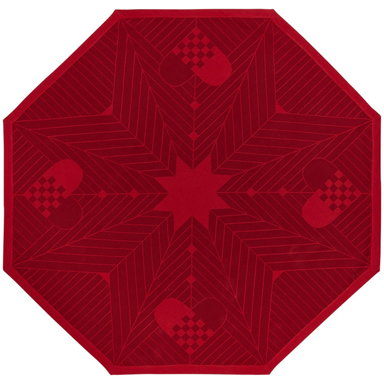 CHRISTMAS octagon Deep Red