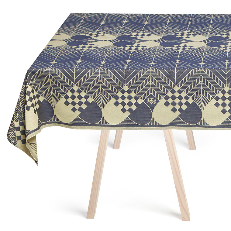CHRISTMAS TABLECLOTHS Blue Gold