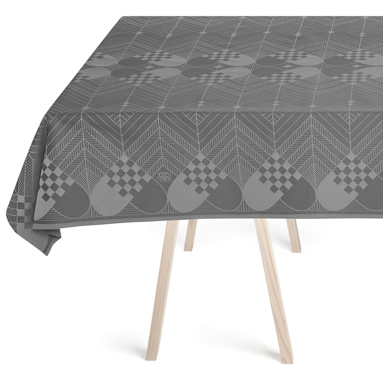 THE CHRISTMAS TABLECLOTH Winter Grey