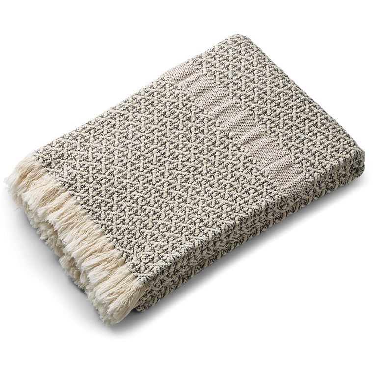 COSY COTTON throw Grey