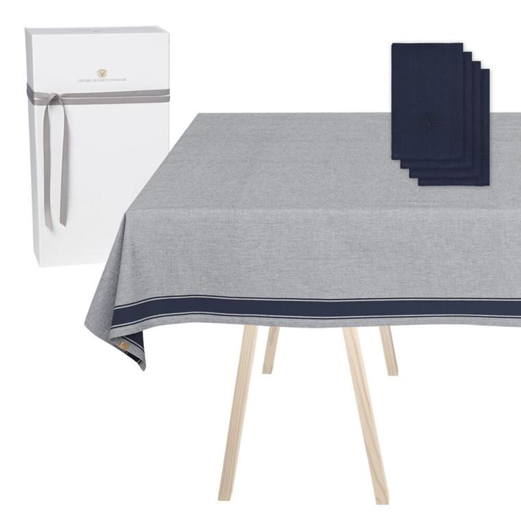 1 SOLID Tischdecke und 4 PLAIN Leinenservietten