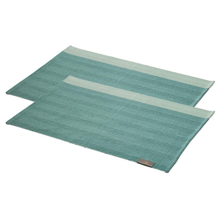 2 Stück HERRINGBONE Tischsets Jade Green