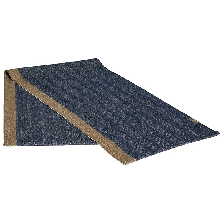 HERRINGBONE table runners Deep Blue
