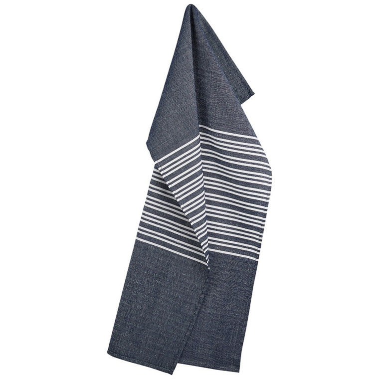 HORIZONTAL tea towels Deep Blue