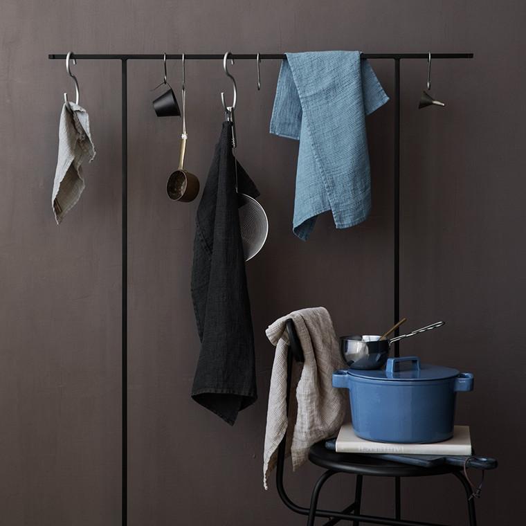 LINEN oppvaskhåndklær Dark Grey