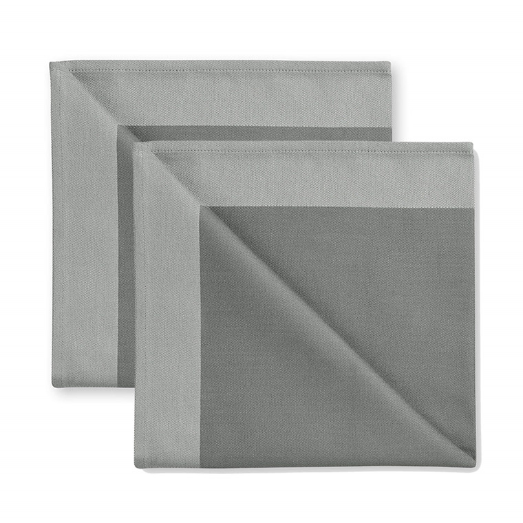 2 pcs Napkins Winter Grey