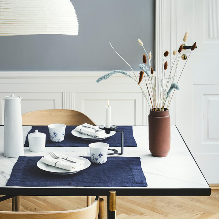 2 pcs PLAIN placemats Deep Blue