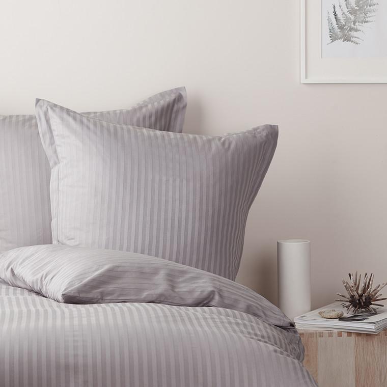 STRIPE sengetøj Silver Grey