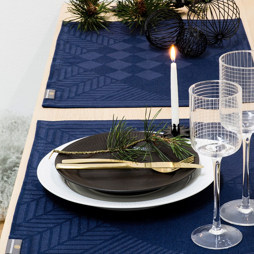 CHRISTMAS RUSTIC placemats Blue