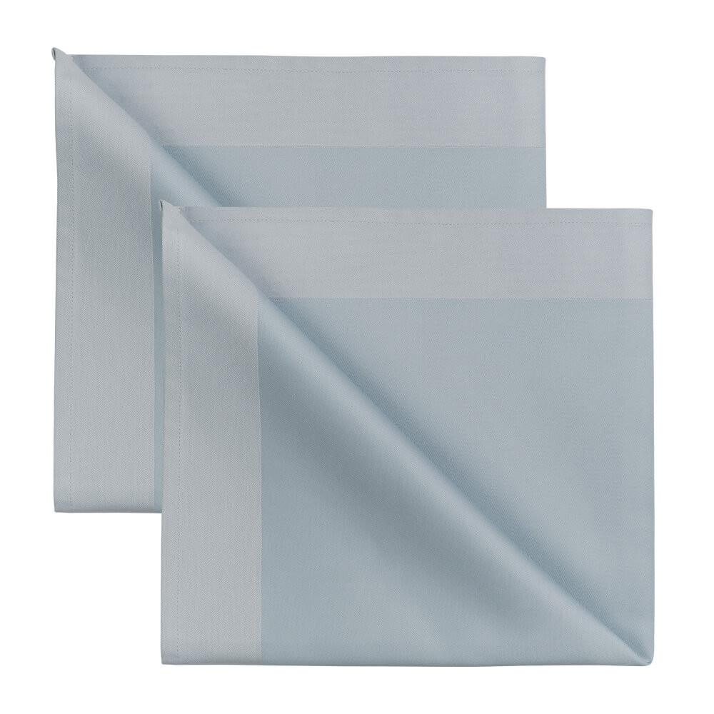 2 Stück Servietten Frost Blue