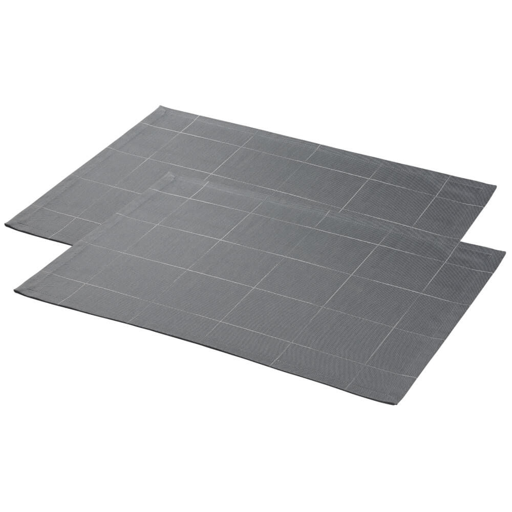 2 pcs ENGESVIK by hand placemats Winter Grey