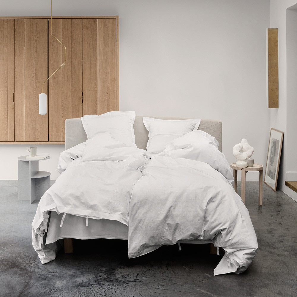 ENGESVIK by hand bed linen White