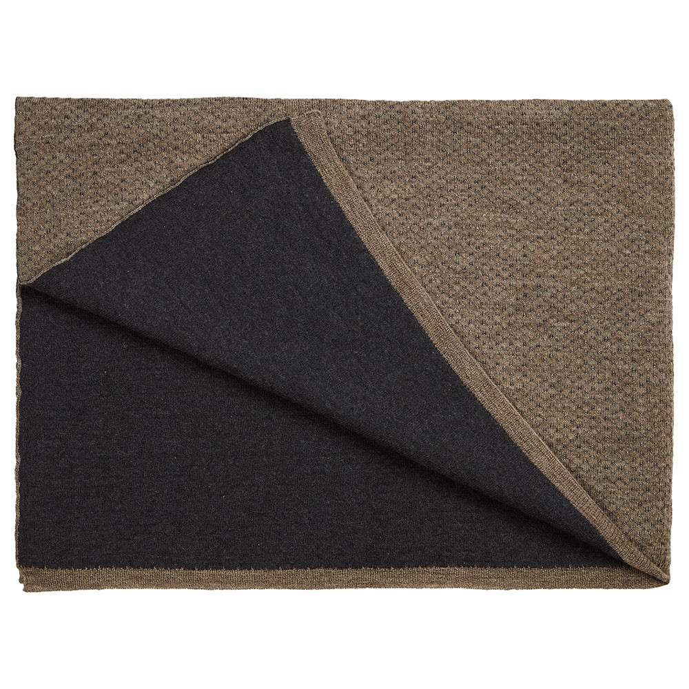 FLECKED throw Brown/Dark Grey