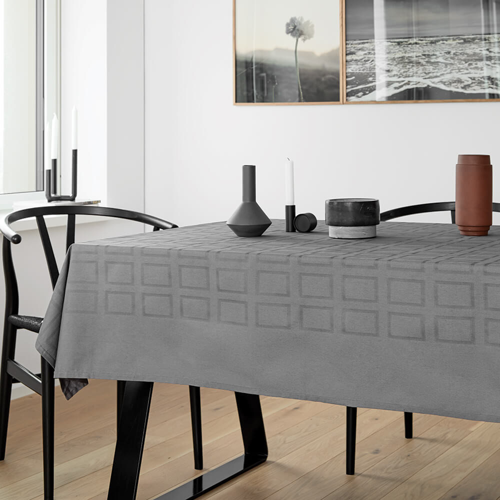 BLOCK tablecloths Opal Grey