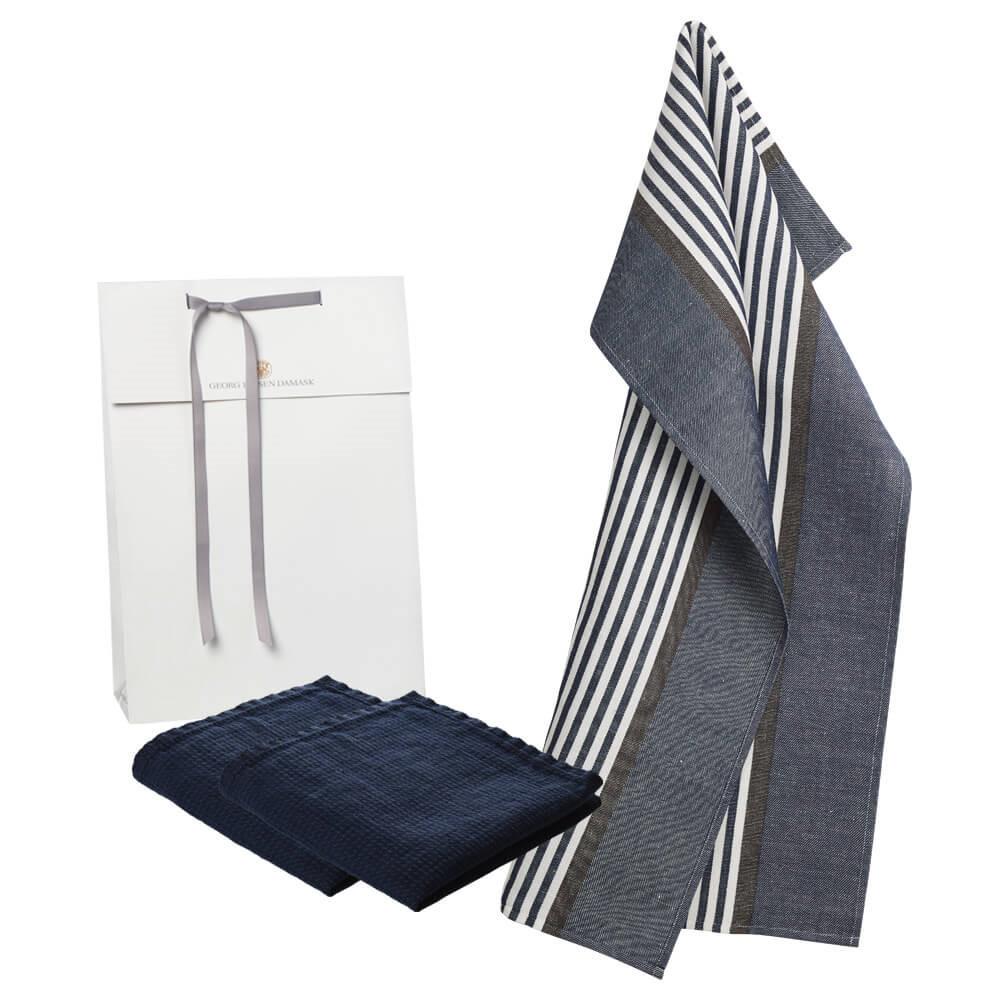 1 ABILD tea towel and 2 LINEN dishcloths