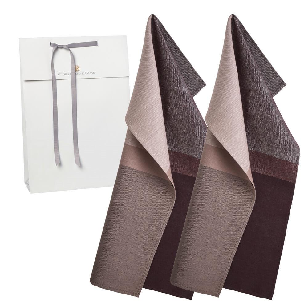 2 COLOURBLOCK tea towels