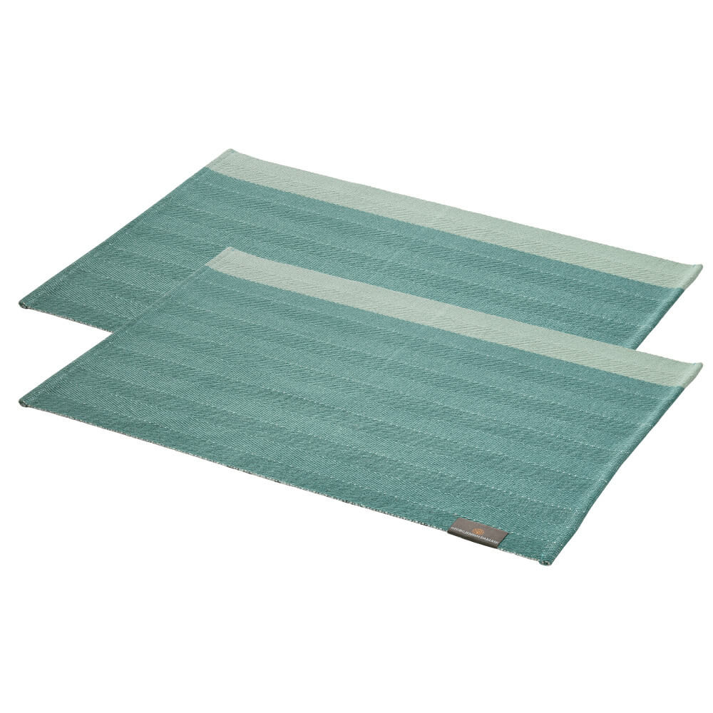 2 pcs. HERRINGBONE placemats Jade Green
