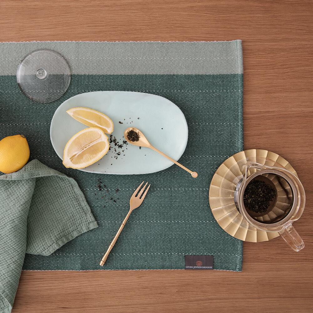 HERRINGBONE Tischsets Jade Green