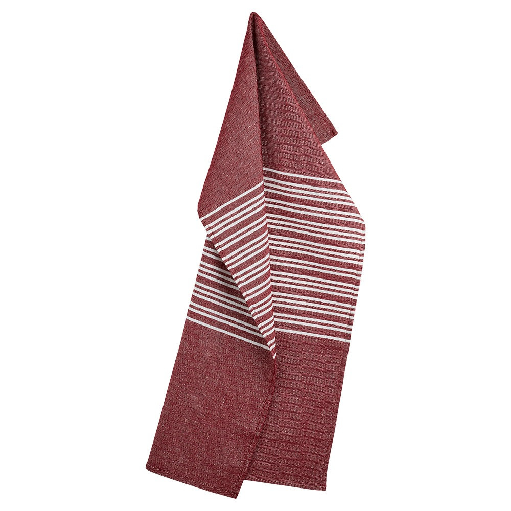 HORIZONTAL tea towels Deep Red