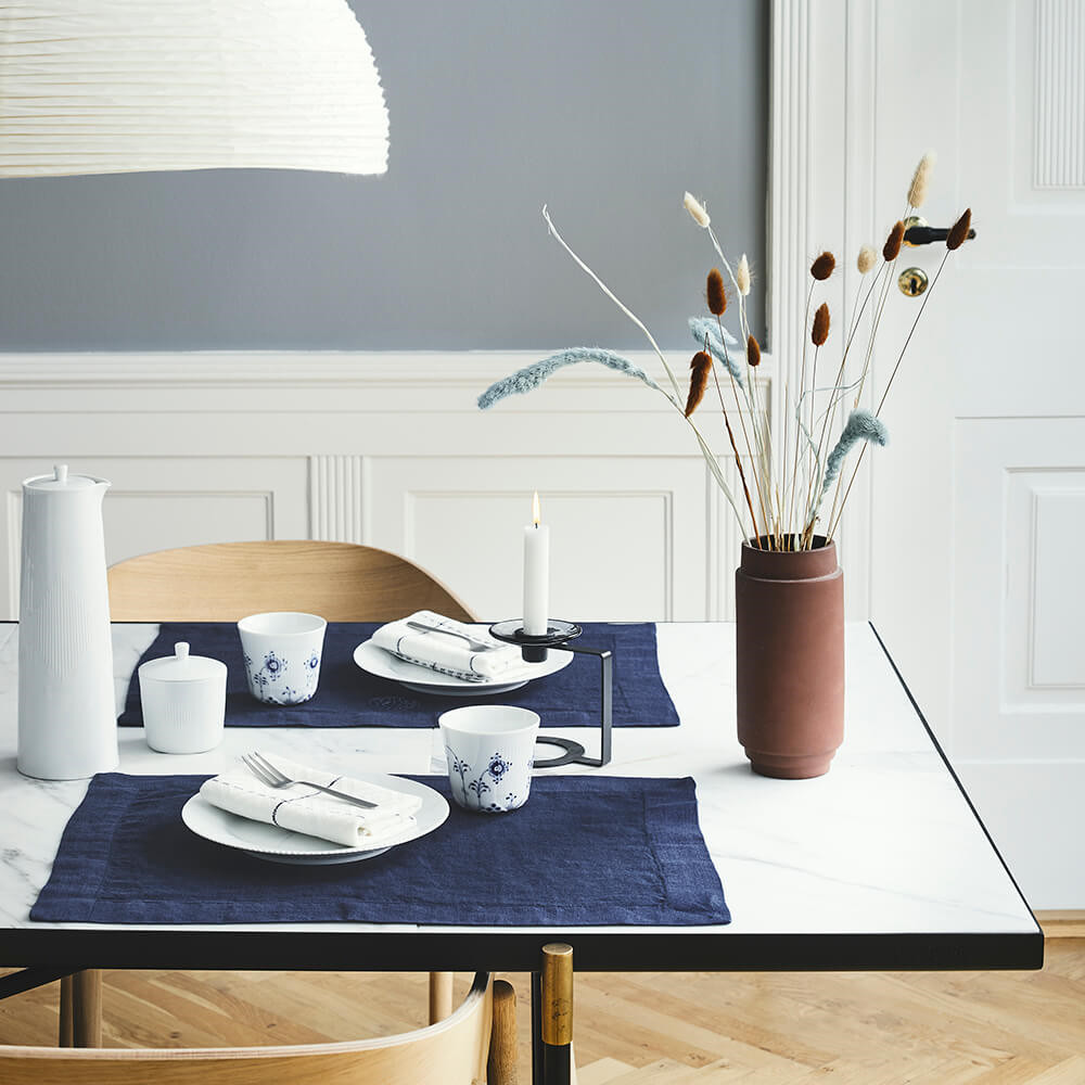 2 stk. PLAIN dækkeservietter Deep Blue