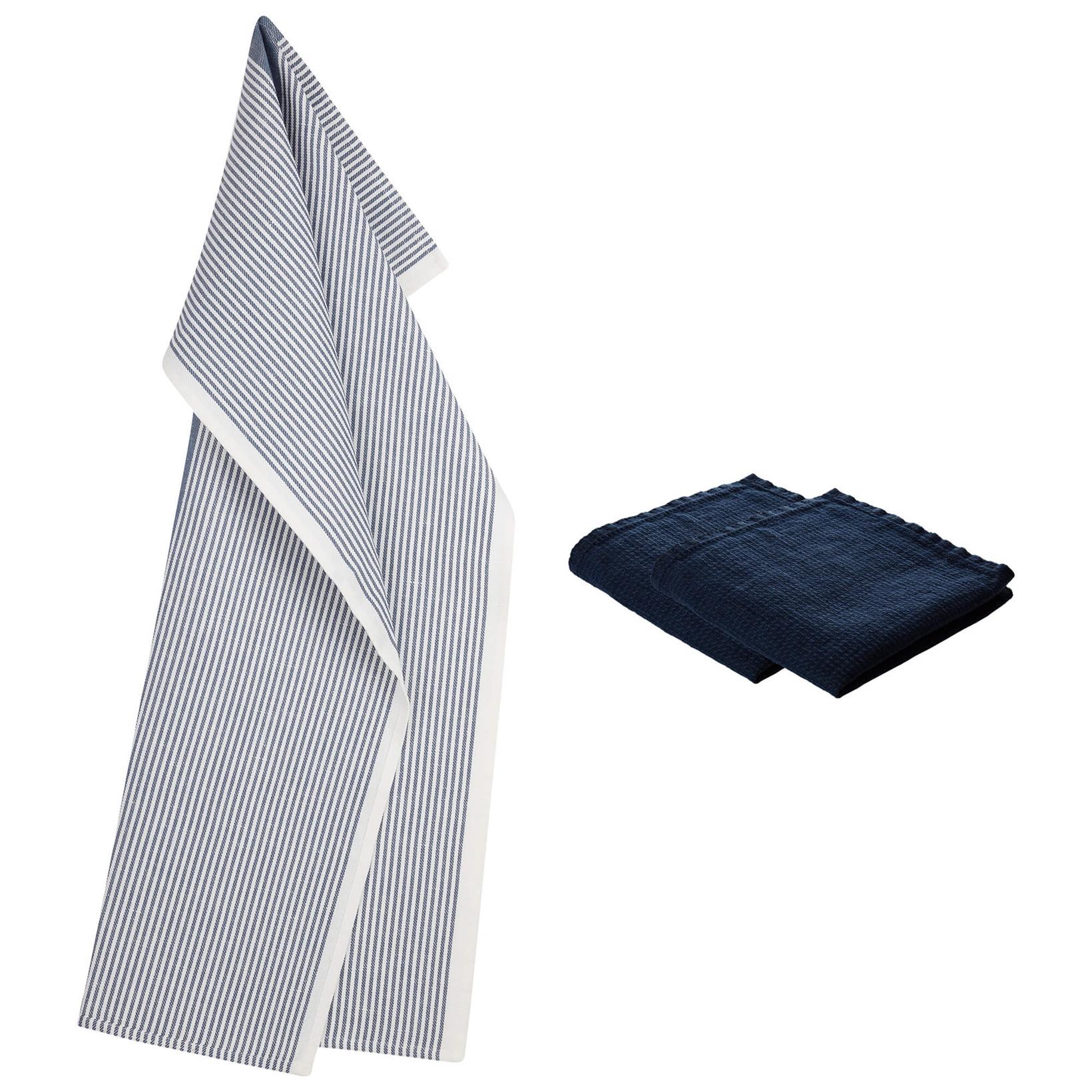 1 TWILL tea towel and 2 LINEN dishcloths